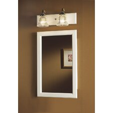 Prairie Steel Single Door Recessed Cabinet in White