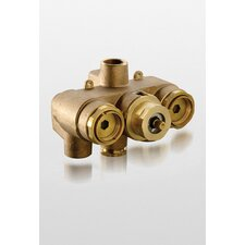 "0.75"" Thermostatic Mixing Valve in Polished Chrome"