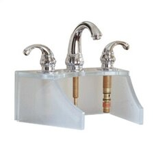 Drains and Accessories Frosted Glass Faucet Stand
