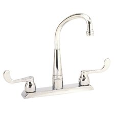 Traditional Swing Spout Double Handle Centerset Kitchen Faucet