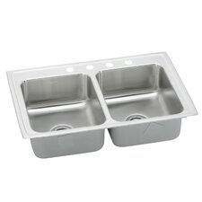 "Lustertone 25"" x 22"" Gourmet Kitchen Sink"