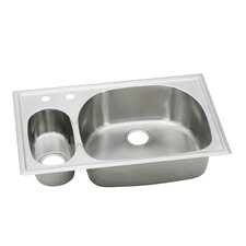 "Harmony 33"" x 22"" x 6.06 -10"" Top Mount Kitchen Sink"