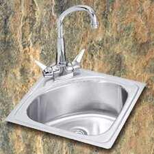 "Gourmet 15"" x 15"" Self-Rimming Bar Sink"