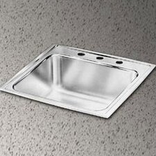 "Lustertone 20"" x 17"" Extra Deep Self-Rimming Kitchen Sink"