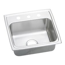 "Gourmet 19"" x 18"" Drop-In Single Bowl Kitchen Sink"