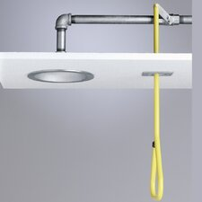 Lifesaver  Wall Mount Horizontal Concealed Deluge Shower with Stay Open Ball Valve and Pull Rod