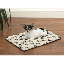Dog Crate Mat in Paw Print
