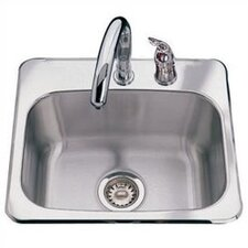 "19"" x 18"" 2 Hole Bar Sink"