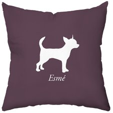 Personalized Chihuahua Poly Cotton Throw Pillow