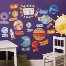 Solar System Interactive Vinyl Peel and Stick Wall Play Mural