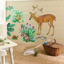 Woodland Animals Wallpaper Mural