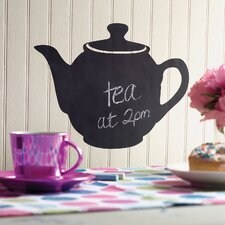Teapot Chalkboard Accent Vinyl Peel and Stick