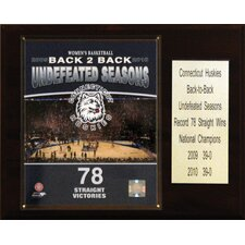 NCAA Basketball Connecticut Huskies 2010 Champions Plaque