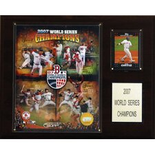 MLB Red Sox 2007 World Series Champions Plaque