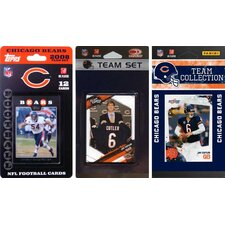 NFL 3 Different Licensed Trading Card Team Set