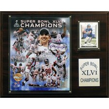 NFL New York Giants Super Bowl XLVI Limited Edition Champions Plaque