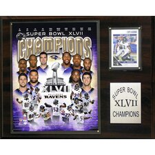 NFL Baltimore Ravens Super Bowl XLVII Champions Plaque