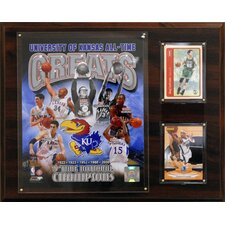 NCAA Basketball University of Kansas All-Time Great Photo Plaque