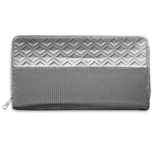 Monochrome Zipper Travel Wallet