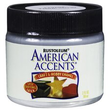 American Accents® Gloss White Craft and Hobby Brush Enamel Paint