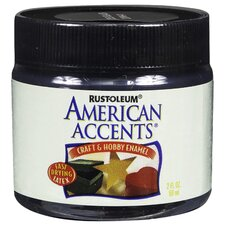 American Accents® Gloss Black Craft and Hobby Brush Enamel Paint