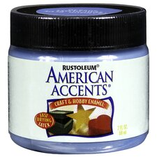 American Accents® Tranquil Blue Craft and Hobby Brush Enamel Paint