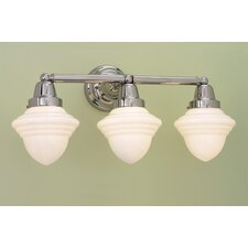 Bradford Schoolhouse 3 Light Bath Vanity Light