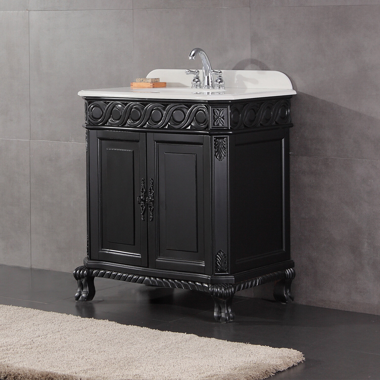 ove decors trent 30 39 39 bathroom vanity ensemble set antique black