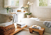 DIY Spa Bathroom on a Dime
