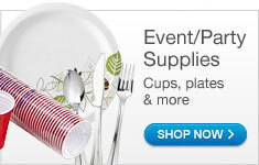 Party Supplies - Paper Plates; Solo Cups;